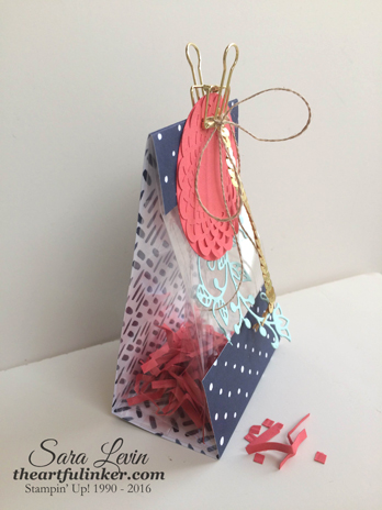 Flourish Treat or Gift Bag - side view - from theartfulinker.com