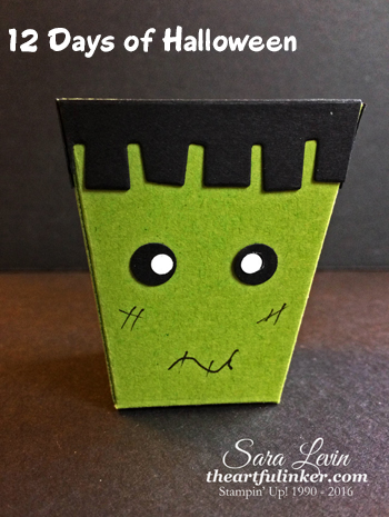 Home Sweet Home Frankenstein Treat Box for 12 Days of Halloween from theartfulinker.com