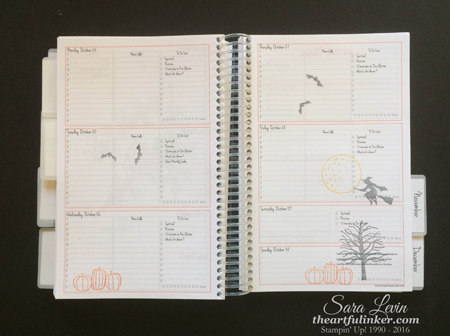 October Planner Pages - theartfulinker.com