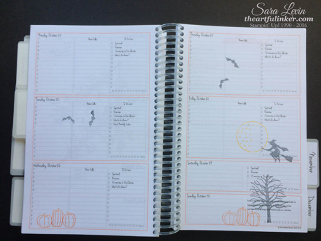 October Planner Pages - from theartfulinker.com