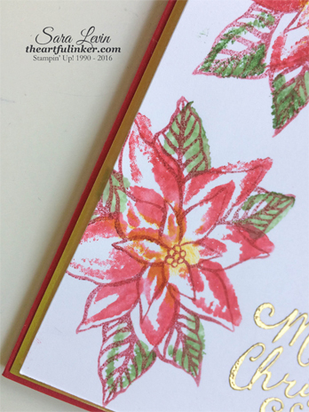 Reason for the Season faux watercolor Christmas Card - poinsettia detail - from theartfulinker.com