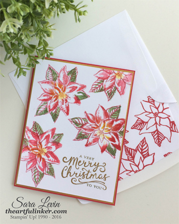 Reason for the Season faux watercolor Christmas card - from theartfulinker.com
