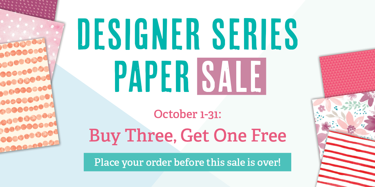 Buy 3 Get 1 Free Designer Series Paper Sale from theartfulinker.com