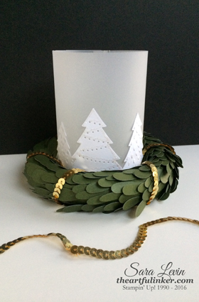 Perfect Pines Holiday Luminary - unlit - from theartfulinker.com