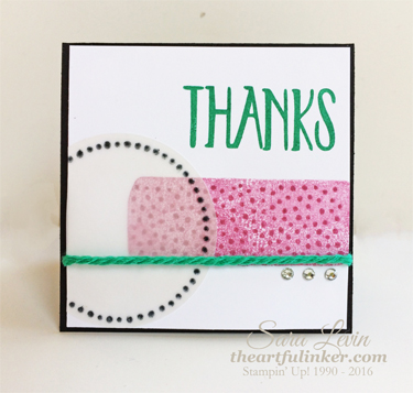 Perfectly Wrapped Thank You card for GDP061 and Fast Friday from theartfulinker.com