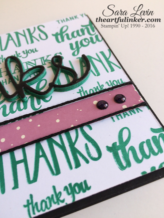 Thanks card - detail - for Creation Station from theartfulinker.com
