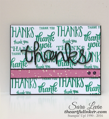 Thanks card for Creation Station blog hop from theartfulinker.com