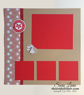 Candy Cane Lane Scrapbook Page 1 from theartfulinker.com