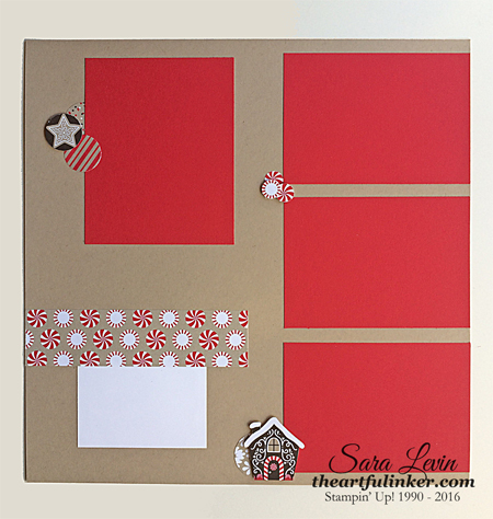 Candy Cane Lange Scrapbook Page 2 from theartfulinker.com
