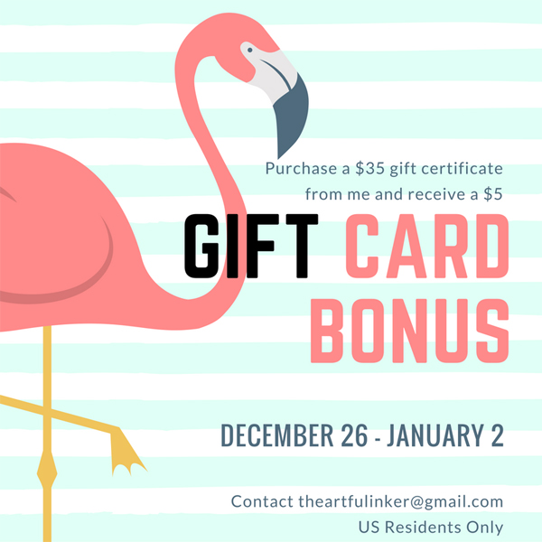Gift Card Bonus from theartfulinker.com