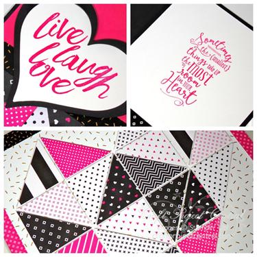 Heart Quilt Wall Art & Card –December Bonus Project!*