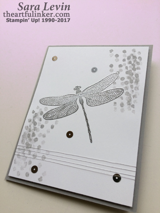 Dragonfly Dreams Clean and Simple card - angled view - from theartfulinker.com