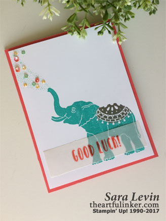Lucky Elephant from theartfulinker.com