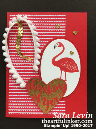 Pop of Paradise Valentines Card from theartfulinker.com