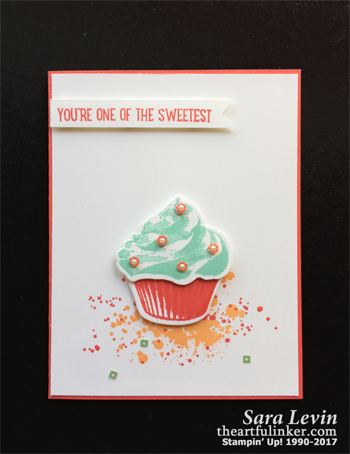 Sweet Cucpake Clean and Simple card from theartfulinker.com