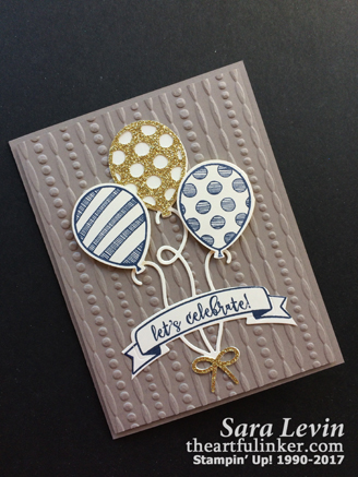 Balloon Pop Up masculine card from theartfulinker.com