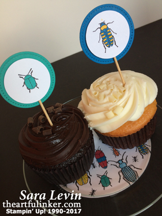 Beetles and Bugs Cupcake Toppers from theartfulinker.com