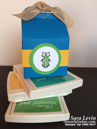 Beetles and Bugs Bakers Box Favor from theartfulinker.com