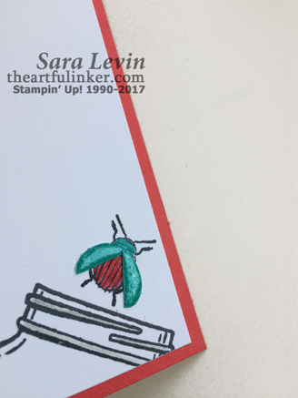Beetles and Bugs Get Well card - inside detail - from theartfulinker.com