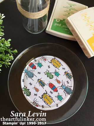 Beetles and Bugs Plate Design from theartfulinker.com