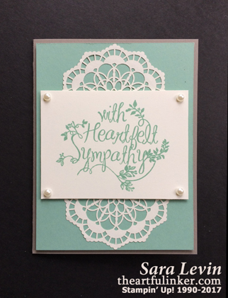 Heartfelt Sympathy card from theartfulinker.com