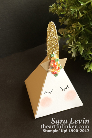 Pyramids Pals Uniconr Box or Favor from theartfulinker.com