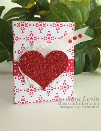 Sending Love Valentines Favor from theartfulinker.com