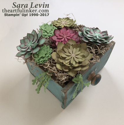 Succulent Garden Drawer - top view - from theartfulinker.com