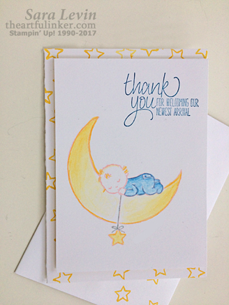 All Things Thanks Moon Baby card from theartfulinker.com