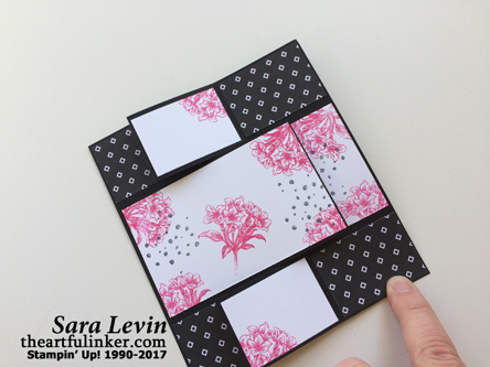 Avant Garden Pop of Pink card, closed - from theartfulinker.com