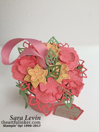 Falling Flowers Get Well Package - top view - from theartfulinker.com