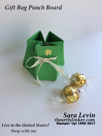 Gift Bag Punch Board sack of gold for St. Patrick's Day