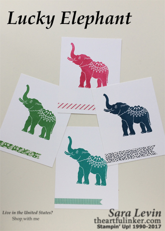 Lucky Elephant Panel Cards from theartfulinker.com