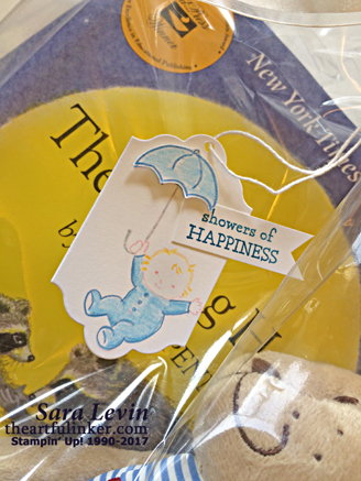 Moon Baby Gift Tag from theartfulinker.com