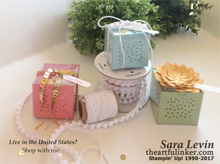 Siimple Sunday Easter Tiny Treat Boxes - embellished - from theartfulinker.com