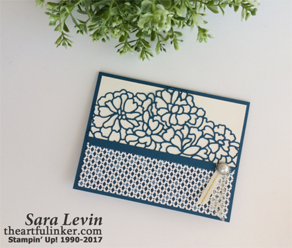So Detailed Thinlits card with Moroccan designer paper from theartfuliinker.com