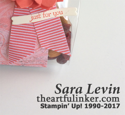 Succulent Framelits Treat Bag - detail - from theartfulinker.com