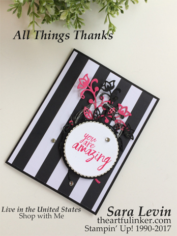 All Things Thanks Pop of Pink card from theartfulinker.com