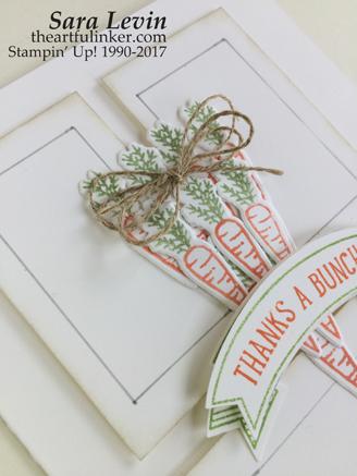 Basket Bunch Carrot Door Hanger - detail - from theartfulinker.com