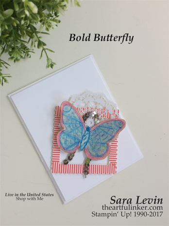 Bold Butterfly Mixed Media card for GDP084 from theartfulinker.com