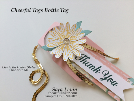 Cheerful Tags and Daisy Delight bottle tag from theartfulinker.com