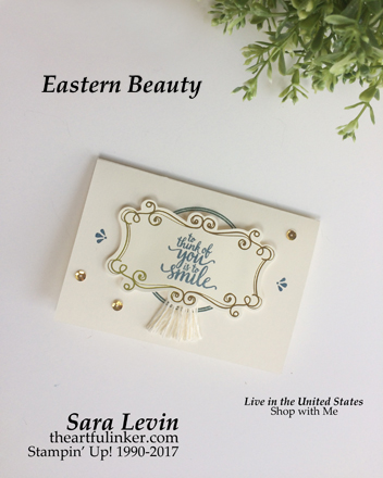 Eastern Beauty Very Vanilla Note Card from theartfulinker.com