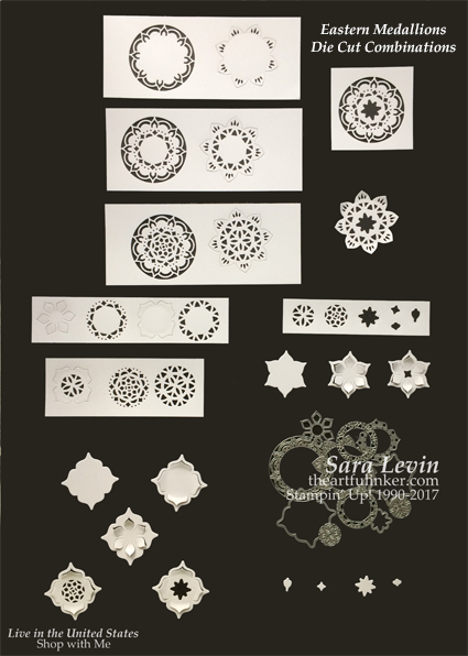 See a variety of Eastern Medallions Thinlits Combinations for these versatile dies
