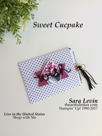 Sweet Cupcake gift card holder for TGIFC104 from theartfulinker.com