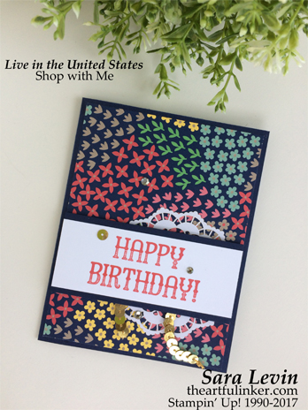 Window Shopping Birthday card from theartfulinker.com