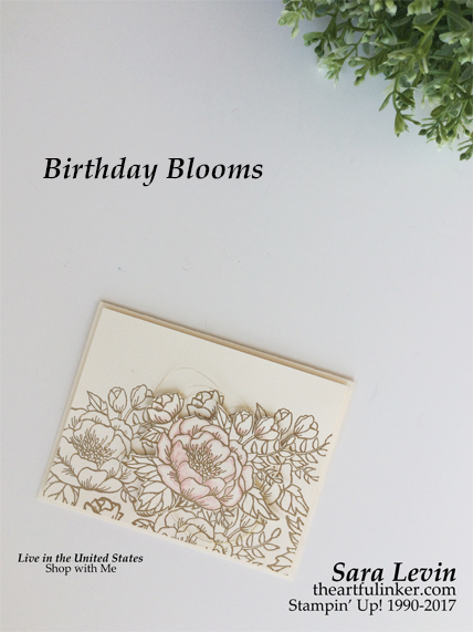 Sara Levin | theartfulinker.comPin it and then, Click the picture for more of Sara's designs. Birthday Blooms Wedding card for Kylie Bertucci's Blog Hop Highlights. cardmaking, papercraft, watercolor, embossing, rubberstamps, stampinup, saralevin, theartfulinker