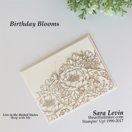 Sara Levin | theartfulinker.comPin it and then, Click the picture for more of Sara's designs. Birthday Blooms Wedding card for Kylie Bertucci's Blog Hop Highlights. cardmaking, papercraft, rubberstamps, stampinup, saralevin, theartfulinker