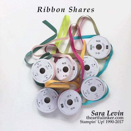 Ribbon Shares 2017-18 Stampin' Up! Annual Catalog from theartfulinker.com