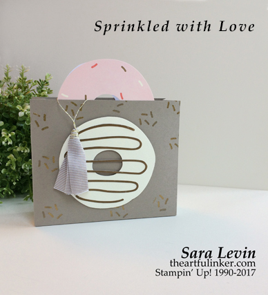 Sprinkled with Love purse - alternate idea 1 - A Paper Pumpkin Thing Blog Hop from theartfulinker.com