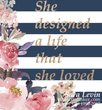 Sara Levin | theartfulinker.com Click the picture to find out how you can design a life you love! saralevin, theartfulinker, rubberstamps, cardmaking, papercraft, rubberstamping, stampinup, join